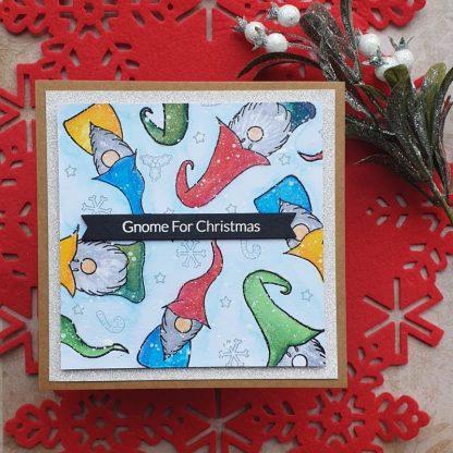 Gnome Christmas Stamp Set Card Sample