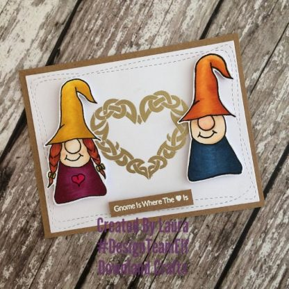 Gnome Girl Stamp Set Card Sample