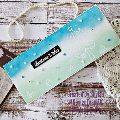 Snowball Tree Stamp Set Card Sample