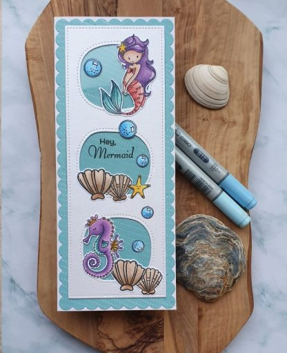 Mermaid Stamp Set Card Sample