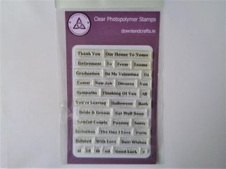 More Sentimental Stamp Set A6 Clear Photopolymer
