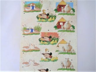 Ducks & Sheep Decoupage Sheet