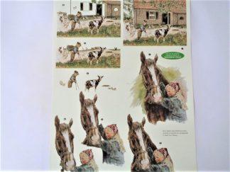 Farm & Horse Decoupage Sheet