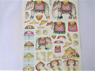 Indian Elephant Decoupage Sheet