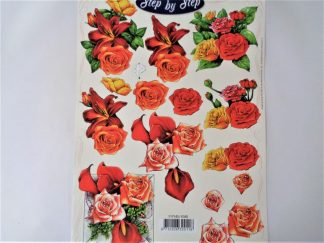 Lily Bouquet Decoupage Sheet