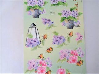 Lilac Floral Decoupage Sheet