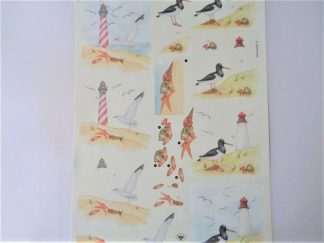 Lighthouse & Beach Decoupage Sheet
