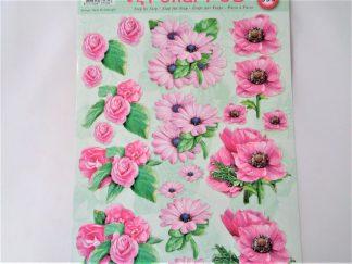 Pink Daisies Decoupage Sheet