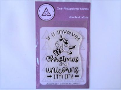 Christmas Unicorn Stamp A7 Clear Photopolymer