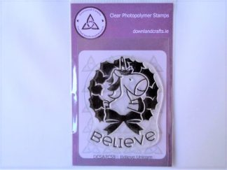 Believe Unicorn Stamp A7 Clear Photopolymer