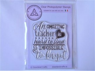 Amazing Teacher Stamp - A7 Clear Photopolymer