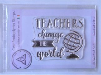 Teachers World Stamp - A7 Clear Photopolymer