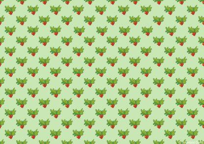 Holly Berries Friday Freebie Printable Paper Download