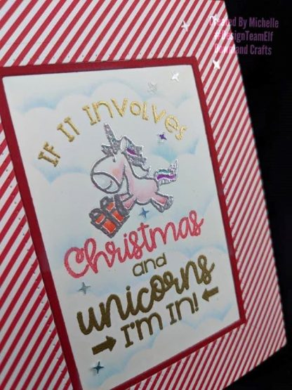 Christmas Unicorn Stamp Card Sample