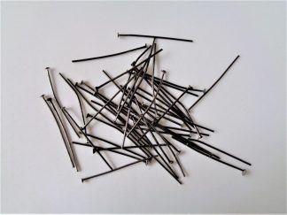 Head Pins - 3cm Gunmetal Black Standard