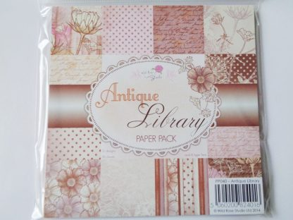 """Antique Library Paper Pack 6"""" x 6"""""""
