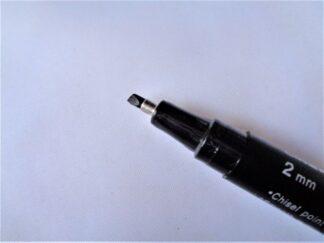 2mm Calligraphy Pen Black