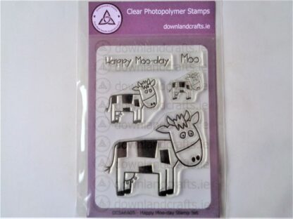 Happy Moo-day Stamp Set A6 Clear Photopolymer