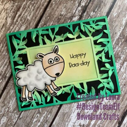Happy Baa-day Stamp Card Sample