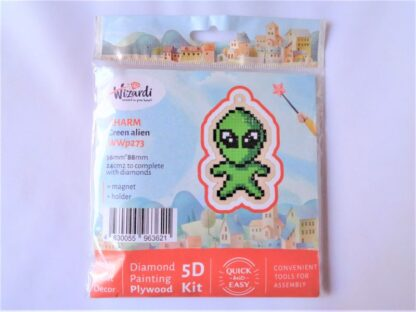 Diamond Painting Charm Kit - Green Alien