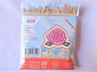 Diamond Painting Charm Kit - Rose