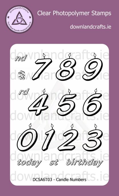 Candle Numbers Stamp Set