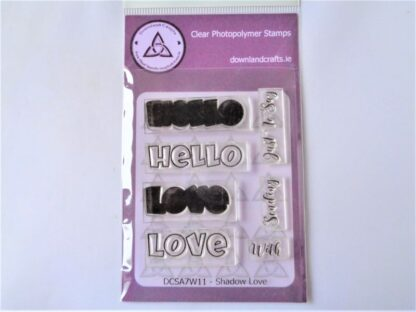 Shadow Love Stamp Set - A7 Clear Photopolymer