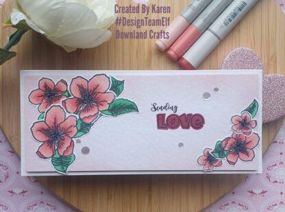 Shadow Love Stamp Set Card Sample