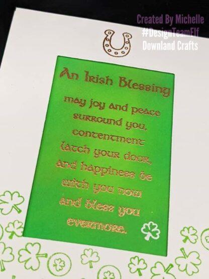 Irish Blessing Stamp Card Sample