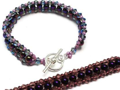 Tennis Bracelet - Purple Rainbow Beading Kit