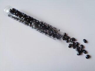 Superduo Beads - Gunmetal Jet