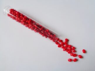 Superduo Beads - Opaque Coral Red