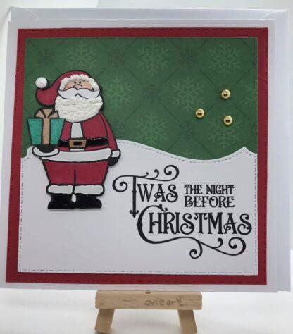 Christmas Eve A6 Stamp Set Card Sample