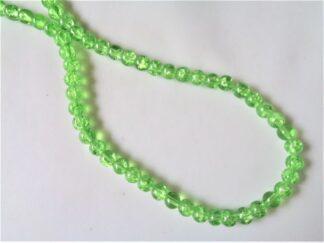 6mm Crackle Beads - Peridot