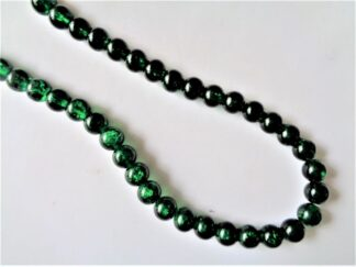 8mm Crackle Beads - Emerald