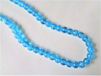 8mm Crackle Beads - Aqua