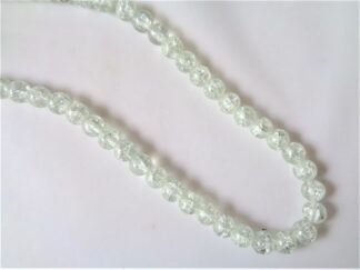 8mm Crackle Beads - Crystal