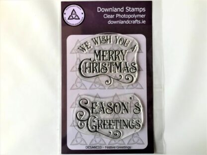 Festive Greetings Stamp Set - A6 Clear Photopolymer