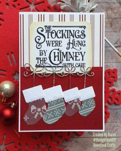 Christmas Eve A6 Card Sample