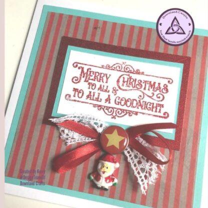 Good Tidings A6 Card Sample