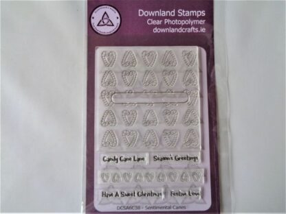 Sentimental Canes Stamp Set - A6 Clear Photopolymer
