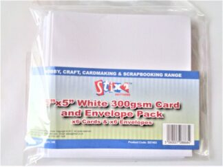 """5""""x5"""" Cards - White 300gsm"""